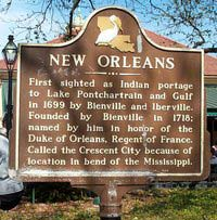New Orleans historic land marker