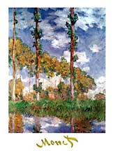 Poplars at Giverny, Claude Monet