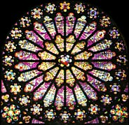 Rose window at Abbey of Saint-Denis