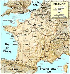 France S Land And Topography