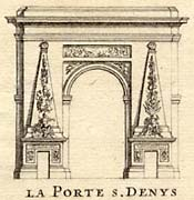 Copperplate engraving of Porte St-Denis, Giffart, 1706.