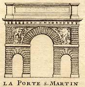 Porte Saint-Martin engraving