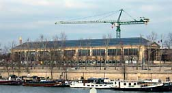 Musee de l'Orangerie under construction.