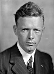 Portrait of Charles Lindbergh.