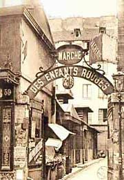 Enfants Rouges market entrance, circa 1905.