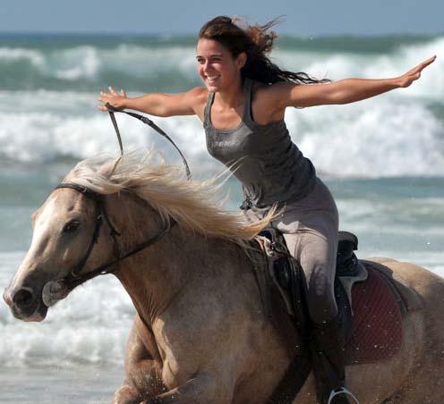 riding horse back