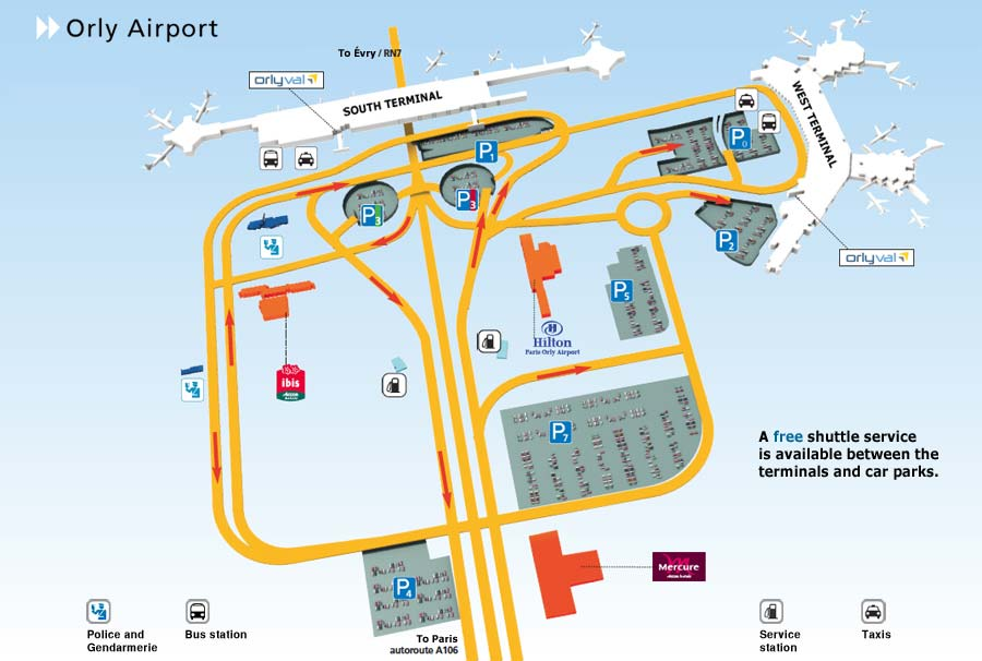 Orly Airport Paris Map