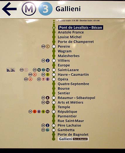 The Paris Metro Subway System Part - Google maps paris france metro