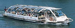 Batobus shuttle boat on the Seine River in Paris