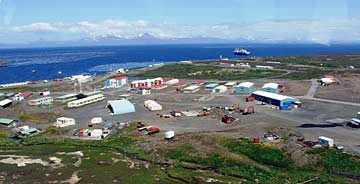 Port-aux-Francais base station on Kerguelen.