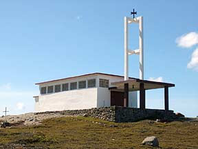 The chapel Notre-Dame du Vent at Port-aux-Francais, Kerguelen.