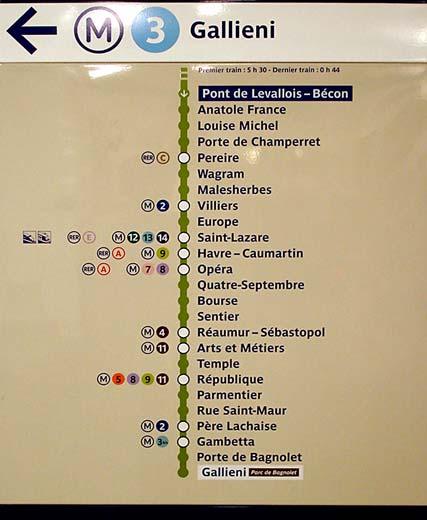 Subway Map Sign.The Paris Metro Subway System Part 1